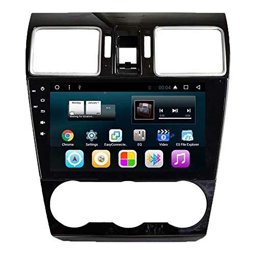 TOPNAVI 9 Pouces 2Din Radio pour Subaru Forester 2013 2014 2015 2016 Android 7.1 Voiture Radio stéréo Navigation GPS avec 1 Go de RAM 16 Go ROM WiFi 3G RDS Lien Miroir FM AM Vidéo