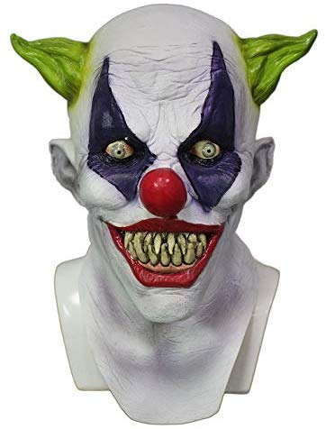 Hengyutoy Mask Halloween Party Clown Abendkleid Latex Joker Maske