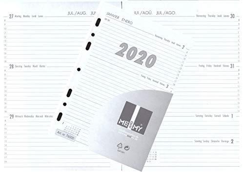 Kalendereinlage Kalender 2020 DIN A5 Für Timer Zeitplaner 1 Woche 2 Seiten