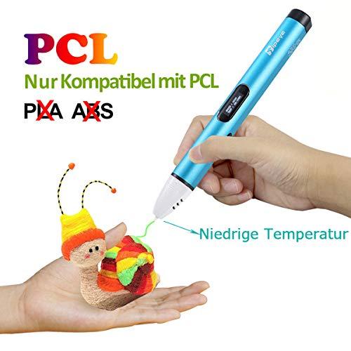 3D Stifte Set mit OLED Display, niedrige Temperatur 3D Pen, sicher für Kinder, Erwachsene und Bastler zu kritzeleien, basteln, malen und 3D drücken (nur kompatibel mit PCL Filament,nicht kompatibel mit PLA und ABS )