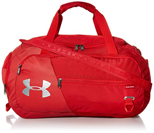 Under Armour Adult Undeniable Duffle 4.0 Gym Bag , Red (600)/Silver , Medium