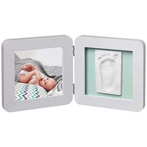 Baby Art – fotolijst twee of driedelig met gipsafdruk en foto voor baby voetafdruk of handafdruk, My Baby Touch afgerond…