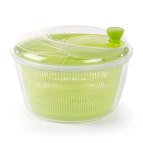 Plastic Forte - Centrifugadora de ensalada 4 litros, plástico, escurridor manual para lechuga y verduras, mecanismo de giro en la tapa, recipiente transparente y colador 25 x 17 cm, color aleatorio