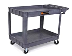 "Your purchase includes One WEN Extra Large Utility Cart, 73004 model Kitchen Cart exterior dimensions – 25.5"" W x 46"" L x 33.5"" H 