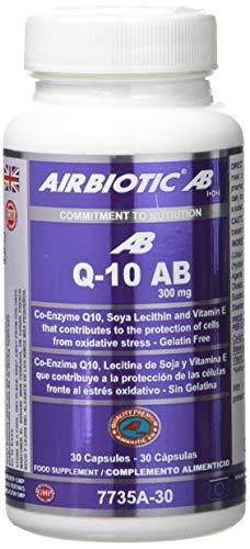 Airbiotic AB Q10 AB Complex 300 mg, Suplemento Alimenticio con Multinutrientes, Coenzima Antioxidante, 30 cápsulas