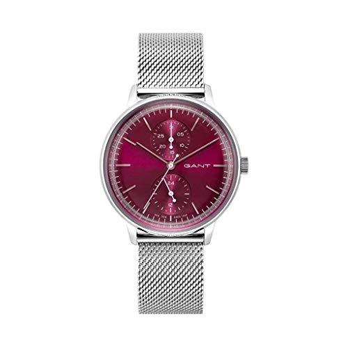 Gant modische Uhr Damen Armbanduhr bis 3 ATM Wasserdicht Silber