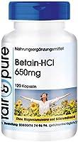 Kapsułki Betaina 650mg - Betaine HCI/Betaine Hydrochloride - wegańskie - bez stearynianu magnezu - 120 kapsułek