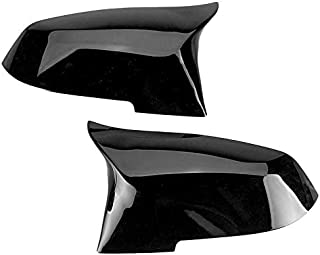 Car Rearview Mirror Cover Fit for BMW 220i 328i 420i F20 F21 F22 F30 F32 F33 F36 X1 EVGATSAUTO Replacement Mirror Cap Glossy Black