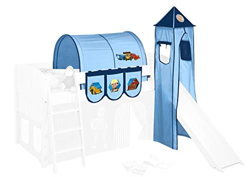 Lilokids Set textile Bob le bricoleur pour lit mi-haut – tour, tunnel et poches