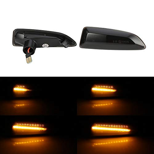2pcs Led Dynamic Side Marker Light Sequential Turn Signal Light Blinker For Vauxhall For Opel Astra J K Insignia B Zafira C Crossland NO LOGO LM-DTZXXH Color : 1