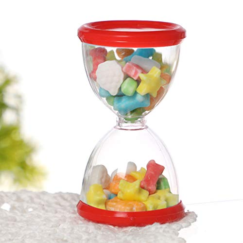 Socobeta Caja de aperitivos, transparente y exquisito soporte de caramelo de alta calidad, con 24 cajas de caramelos para suministros de boda para inauguración de la casa para cumpleaños (rojo)