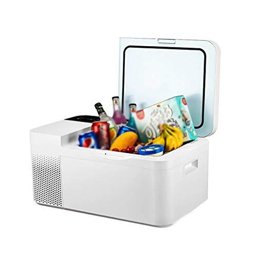 xinbao Mini-Autokühlschrank, Kühlerkompressor Tragbarer Kleiner Kühlschrank Autokühlschrank-Gefrierschrank Zum Fahren Auf Reisen, Angeln Und Für Den Heimgebrauch (Farbe: Weiß)