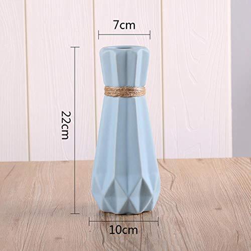 De Origam antieke keramische vaas moderne witte roze blauw grijze vaas kunstbloem tafel kleine vaas bruiloft decoratie vazen, groot blauw