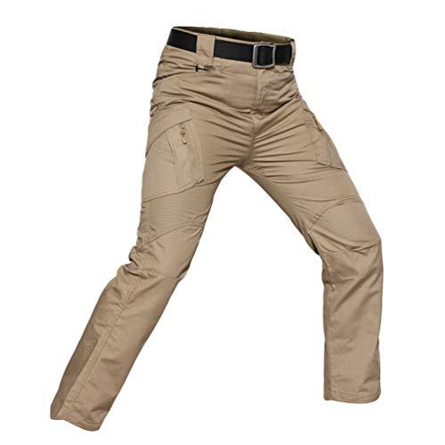 YuanDiann Homme Tactique Camouflage Pantalon Multipoches Outdoor Randonnée...