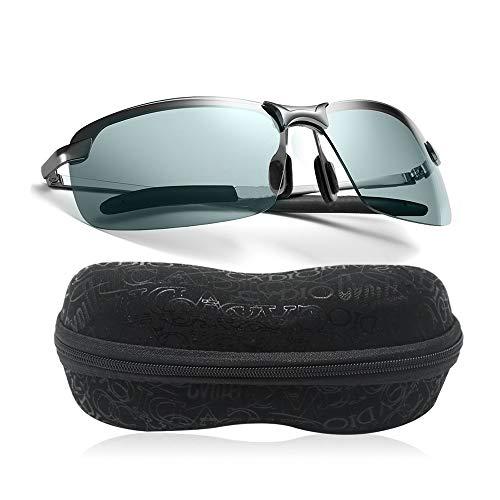 Lunettes de conduite de nuit, polarisées HD vision nocturne Avec verres de sécurité, filtre anti-éblouissement Lunettes de soleil de sport anti-UV pour la protection des yeux Ultralégères.