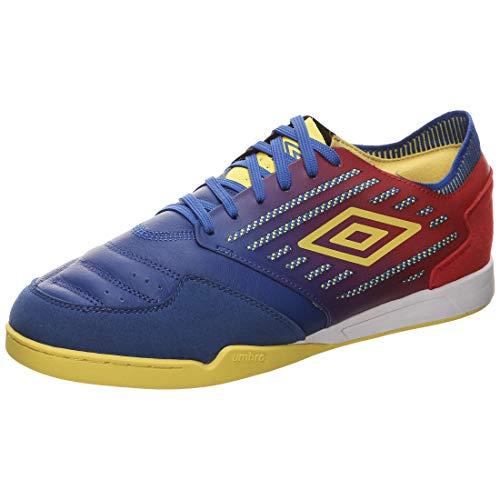 UMBRO Chaleira II Pro - Botas de fútbol para hombre, color azul y amarillo