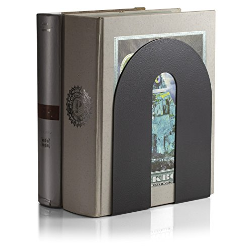 Officemate Bookends Heavy Weighted 10quot Steel Black 93182