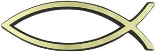 Travelling Witness - Coche de Parachoques Emblema de Oro Pegatina Pescados Cristianos de Jesús
