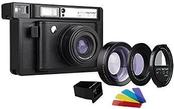 Lomography Lomo'Instant Wide Black + Lenses - Instant Film Camera