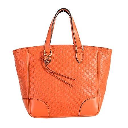 Fashion Shopping Gucci 100% Leather Orange Women's Handbag Shoulder Bag