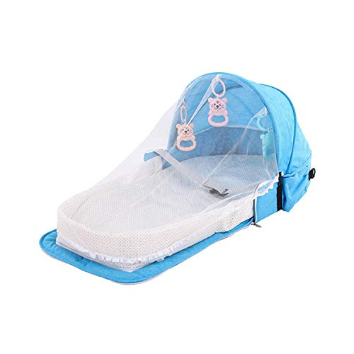 Eileen Ford Moskitonetz |Babybett Reise Sonnenschutz Moskitonetz mit tragbarem Baby Faltbarer Babyschlafkorb -PJ057A-