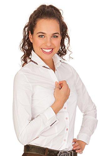 Hammerschmid Trachten Bluse, Langer Arm - KATJA - weiß, Größe 46
