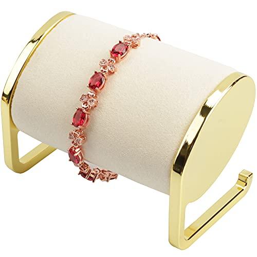 SYYSY Metal Jewelry Holder Watch Display Stand Bracelet Bangle Organizer Display Rack Holders For Jewelry(Ivory)