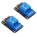 SaiDian 2Pcs 1 Channel 3V Relay Module 3.3V Low Level Shooting with Lamp (Without Optocoupler)