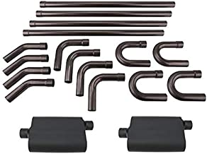 DIY Universal Hot Rod Dual Exhaust System Kit w/Mufflers, 3 Inch