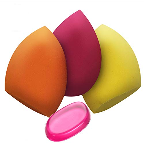 Benols Beauty (TM) 3 Pcs Makeup Sponge set Blender Beauty, Foundation Blending Sponge, Flawless for Liquid, Creams, and Powders, Multi...