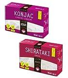 WokFoods: 1 x Konjac Linguine + 1 x Shirataki Konjac, Preparato Alimentare con Farina di Konjac Cibo Giapponese --2 x 300 Grammi (Peso Sgocciolato 2 x 200 Grammi)
