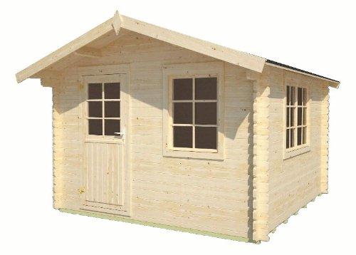 Gartenhaus Mosel Gerätehaus Blockhaus ca. 320 x 320 cm 34 mm doppelte Nut+Feder