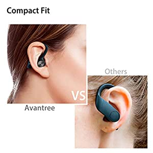 [New] Avantree TWS109 Sports True Wireless Earbuds for Running, Sweatproof Truely TWS Bluetooth 5.0 Headphones with Mic, Secure Fit with Around Ear Earphones Headset for Gym Workout Exercise
