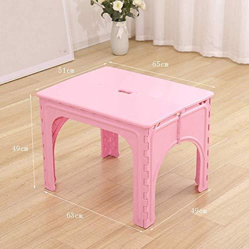 Set tavolo e sedia per bambini, tavolo da attività portatile pieghevole per bambini, tavolo in plastica e 1/2 sedie, per attività di studio per uso interno o esterno (colore: rosa, dimension