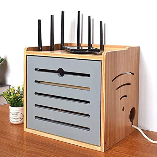 Fuente De Alimentación De Madera Maciza Gato Óptico Plug-in Row Hub Board Acabado Set-Top Box Estante Caja De Almacenamiento De Enrutador WiFi Inalámbrico Cuatro Capas