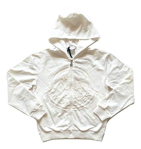 Moncler Junior Sweatshirt Cardigan mit Kapuze Full Zip Kinder Weiß 8466705, Weiß 6 Jahre