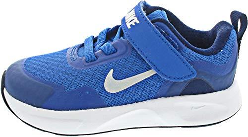 Nike Wearallday (TD), Scarpe da Ginnastica Unisex-Bambini, Signal Blue White Blue Void, 21 EU