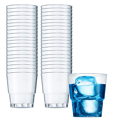 Clear Plastic Cups | 6 oz. 100 Pack | Hard Disposable Cups | Plastic Wine Cups | Plastic Cocktail Glasses | Plastic Drinking Cups | Small Plastic Party Punch Cups | Bulk Wedding Plastic Tumblers