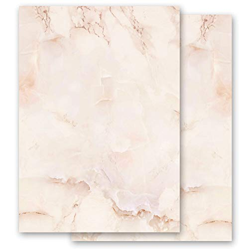 Briefpapier Marmor & Struktur MARMOR TERRACOTTA - DIN A6 Format 100 Blatt - Paper-Media