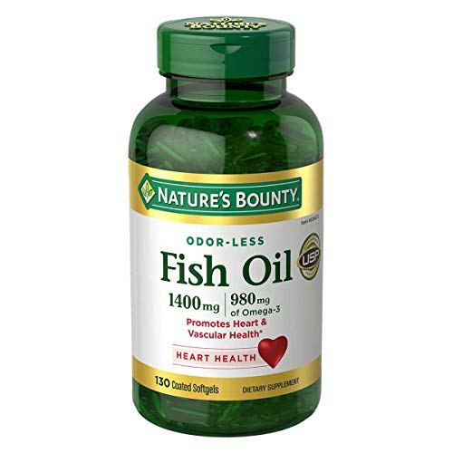 Nature#039s Bounty Fish Oil 1400 Mg Odorless Maximum Strength: 130 Coated Softgels by Nature#039s Bounty