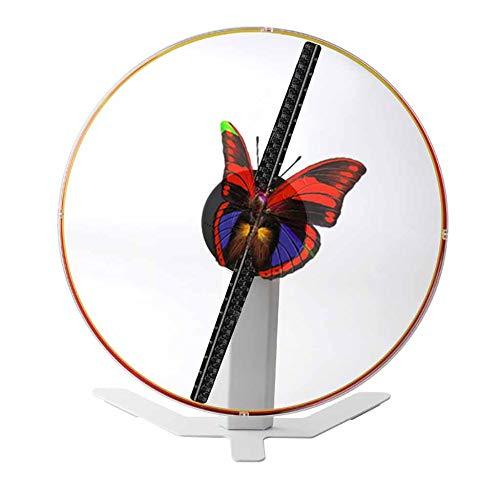 MIEDTY 3D Holographic Projector,43Cm 224 Granos de la Lámpara Ángulo de Visión de Alta Definición Proyector de Hologramas 3D,Prestar Ayuda Máscara de Protección Holographic Projector Montado en l