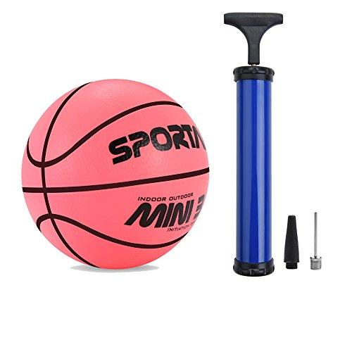 Mini-Basketball, Schwimmbad-Basketball,Kinder-Basketball,12,7cm Durchmesser,weich und federnd, Red + Pump