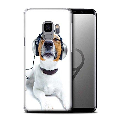 Stuff4® hoes/case voor Samsung Galaxy S9/G960 / hond met koptelefoon patroon/grappige dierencollectie
