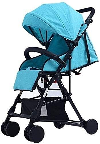 Cochecito de bebé Cochecito de viaje para niños recién nacido Niño pequeño puede sentarse Luz reclinable Plegable Plegable Alto Paisaje Bebé Niño Paraguas Carrito Carrito Carrito de carga 15kg