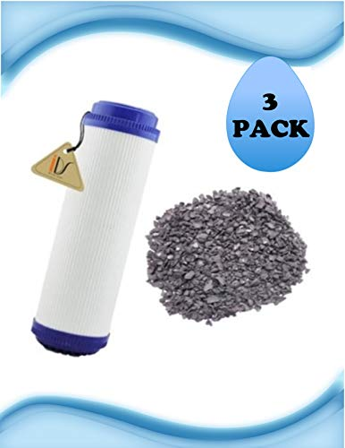3 Pack of Compatible for OMNIFilter GAC1-SS Compatible TASTE/ODOR FILTERS