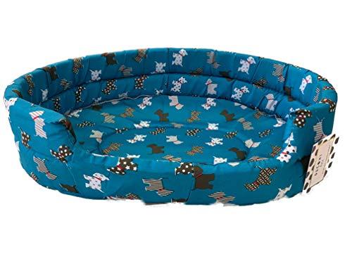 Ducomi fufy–Cuna para Perros y Gatos de Oxford de Oxford–Blanda Caseta para Mascotas–Fácil de Lavar