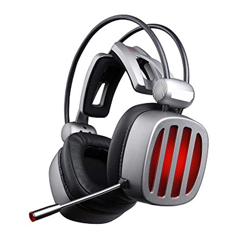 TEMP Casque Gaming Headset Music Headphones Wired Headset, 7.1 Virtual Surround Sound Subwoofer Audio Recognition Active Bruit Reduction with Microphone Unisex for Computer