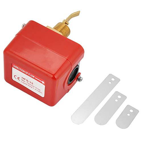 Acogedor Durchflussschalter HFS-15 220VAC 1/2 Zoll Paddel-Durchflussschalter 0~120°C 1,0 MPa Wasserströmungsschalter für Wasseraufbereitungssystem,zentrale Klimaanlage,Brandschutzsystem