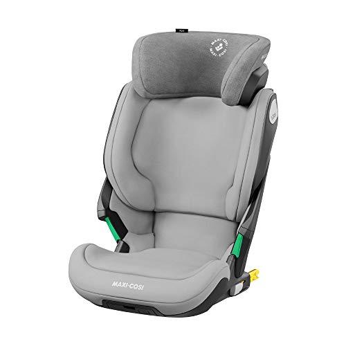 Maxi-Cosi Kore i-Size Kindersitz, Mitwachsender Gruppe 2/3 Autositz mit ISOFIX (15-36 kg), Kinderautositz mit Maximalem Seitenaufprallschutz, Nutzbar ab ca. 3, 5 Jahre bis 12 Jahre, Authentic Grey
