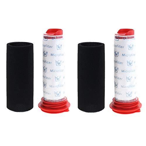 2x CleanMonster Staubsaugerfilter Set für Bosch Athlet BCH6 Serie, BCH6L2560, BCH6L2561, BCH6ZOOO Zoo'o ProAnimal, BCH6ATH25, Akku Handstaubsauger Filter Set kompatibel zu Bosch 00754176, 00754175